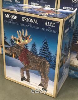 New Christmas 2017 45 Led Light Glitter String Moose Outdoor Yard Decoration