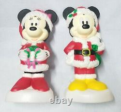 New Disney Mickey and Minnie Mouse Christmas Lighted Yard Decor Blow Mold 24