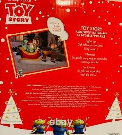 New Disney Pixar 8 Ft Long Toy Story Woody Buzz Christmas Gemmy Inflatable