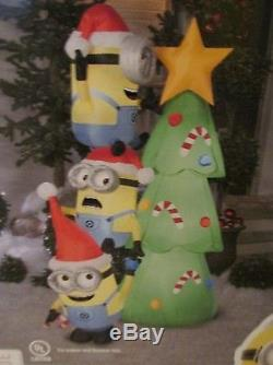 New Gemmy 6 Foot Despicable Me Minions Scene Airblown Christmas Yard Outdoor