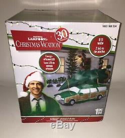 New Gemmy 8ft Wide National Lampoon's Christmas Vacation Airblown Station Wagon