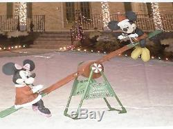 New Gemmy Over 7' Animated Christmas Teeter Totter See Saw Mickey & Minnie Mouse