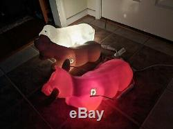 New General Foam Nativity Cow, Sheep & Donkey Lighted Blow Mold