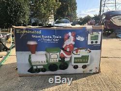New General Foam Plastics Santa Claus Train Blow Mold Set