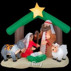 New Holy Family Nativity Scene Jesus Mary Gemmy Christmas Airblown Inflatable