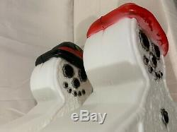 New, Vintage, Two Lighted Gingerbread Snowmen, Union Products Holiday Blow Molds