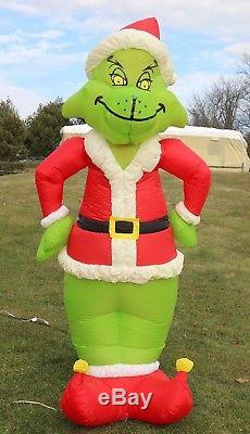 original gemmy grinch 8 lighted airblown inflatable christmas yard blow up - Blow Up Christmas