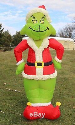 Original Gemmy Grinch 8 Lighted Airblown Inflatable