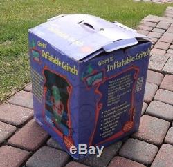 Original Gemmy GRINCH 8' Lighted Airblown Inflatable Christmas Yard Blow Up