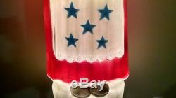 Patriotic Mrs. Claus/Betsy Ross Union Product Lighted Blow Mold Christmas in July