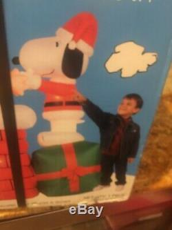 Peanuts Gemmy Airblown Inflatable Animated 6 Ft Very Rare Christmas Snoopy