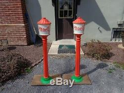 Poloron VINTAGE Christmas Noel Lamp Post Lantern, Blow Mold, Light up Yard Decor
