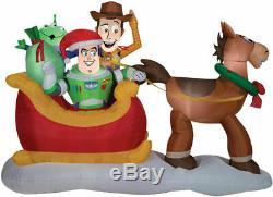 Pre-Order TOY STORY SLEIGH SCENE Airblown Inflatable WOODY BUZZ BULLSEYE DISNEY