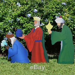Printed Three Wise Men Nativity Figure Set