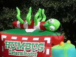 RARE 6-1/2' Gemmy Christmas Humbug Exterminator Lighted Airblown Inflatable