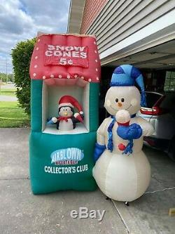 RARE Gemmy 7ft 2007 Collector's Club Snowcone Stand Airblown Inflatable