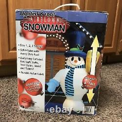 RARE Gemmy Frosty The Snowman 8 Foot Airblown Inflatable Christmas Light Blow Up