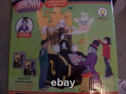 RARE Gemmy Halloween Airblown ZOMBIE ORGAN PLAYER Inflatable Animated