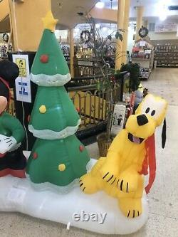RARE Gemmy Mickey Minnie Mouse Goofy Christmas Tree Inflatable Airblown