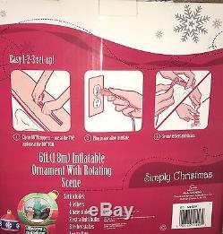 RARE! NIB 8' Gemmy Airblown Inflatable Santa's Workshop Animated/rotating