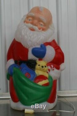 RARE TPI Praying Santa Gift Bag Blow Mold Bright Colors 1998 Kneeling Praying 27