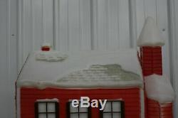 RARE Vintage Empire Christmas School House Blow mold Lighted Yard Decoration