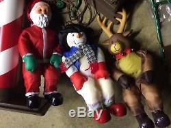 RARE Xmas Display Character Ski Chair Lift Outdoor Yard Decoration Santa Snowman