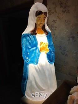 Rare Empire Blow Mold Nativity Set Christmas light vintage 4 piece set Jesus