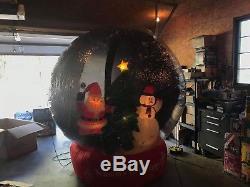 Rare Gemmy 2005 8 Foot Tall Airblown Christmas Snow Globe Inflatable