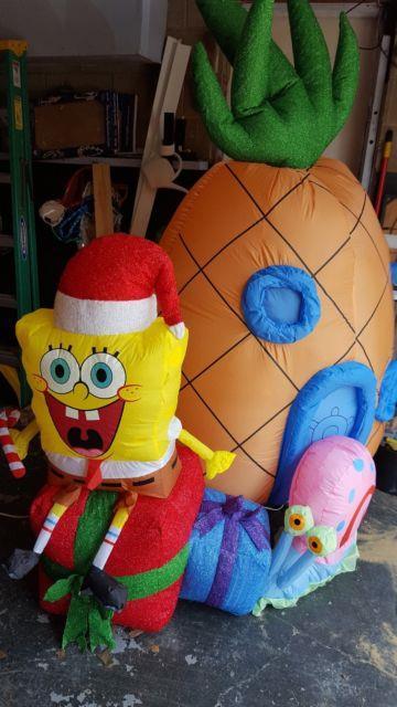 Rare Gemmy Airblown Inflatable Christmas Spongebob Squarepants