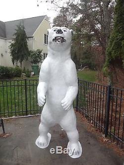 Rare Giant Life Size 8' Feet 95 Tall Fiberglass Standing Polar Bear Sculpture