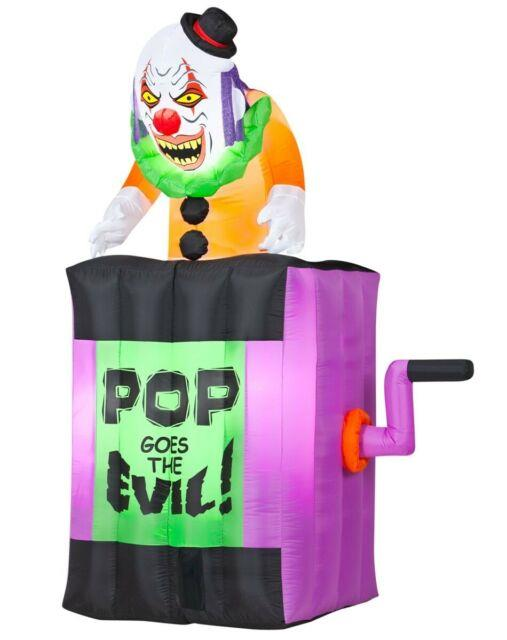 Rare Htf Gemmy 2013 4.5 Ft Animated Jack-in-the-box Spirit Halloween Inflatable