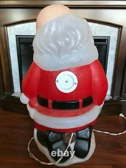 Rare TPI Christmas Blow Mold Kneeling Santa & Baby Jesus Lighted Yard Decoration