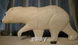 Rare Union Products Plastic Blow Mold Polar Bear 1995 Don Featherstone Signed