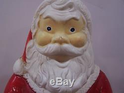 Rare Vintage Christmas Santa Empire Blow Mold Light Yard Decor plastic outdoor
