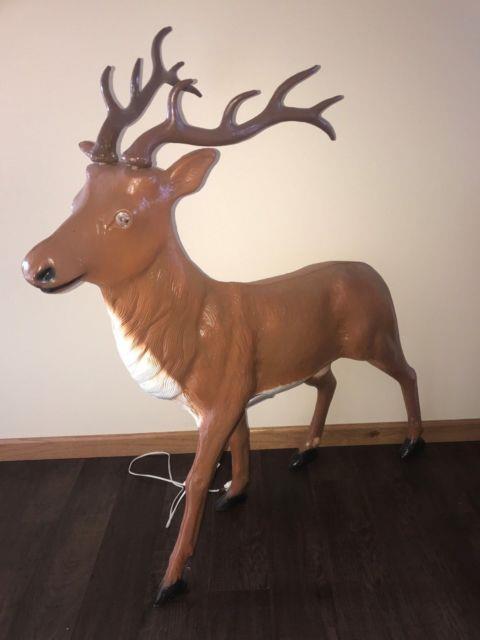 Rare Vintage Lighted Blow Mold Buck Reindeer Yard Decoration