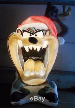 Christmas Blow Molds >> Rare Vtg Big Taz Tasmanian Devil Blow Mold Lighted Holiday ...