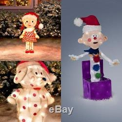 Rudolph Misfit Toy Collection Sally, Charlie, Elephant Christmas Yard Decorations