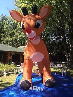 Rudolph The Red nose Reindeer Giant 15 Ft Inflatable, HEAD ROTATES NEW