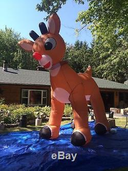 Rudolph The Red nose Reindeer Giant 15 Ft Inflatable, animated, NEW