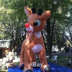 Rudolph The Red nose Reindeer Giant 15 Ft Inflatable, animated, Used