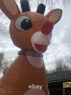 Rudolph The Red nose Reindeer Giant 15 Ft Inflatable, animated, plus 9 Ft Clarice