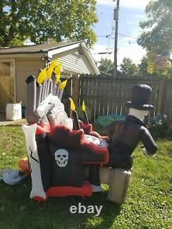 SEE VIDEO! Inflatable Airblown Animated Organ Skeleton Player Piano Halloween