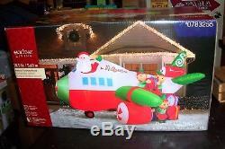 Santa Airplane Scene 18.5 Ft Wide Christmas Airblown Inflatable Nib
