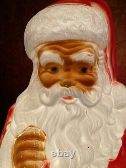 Santa Claus Toys Vintage Outdoor Indoor Lighted Decor Blow Mold 40 Tall