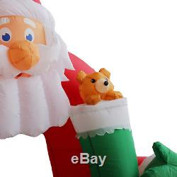 Santa Lighted Arch Archway Animatronic Christmas Airblown Inflatable