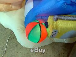 Santa On Vacation Tropical Beach Christmas Inflatable Lighted Yard Decor Penguin