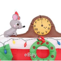 Santa Popping Down Fireplace 5-Ft Lighted Christmas Airblown Inflatable Outdoor