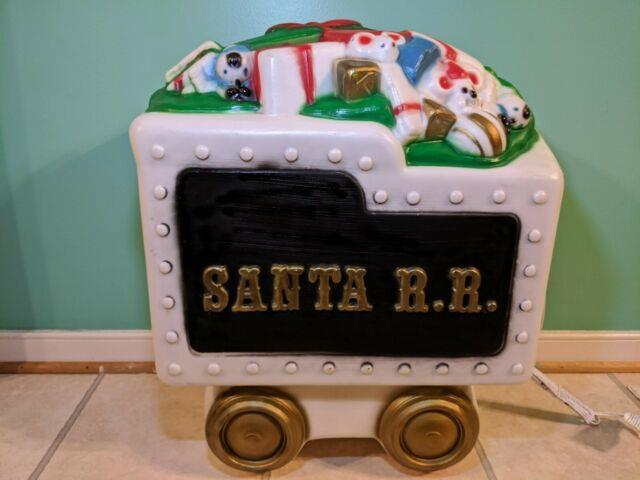 Santa Train Tender Car Lighted Blow Mold Black, General Foam, Tender Car Only