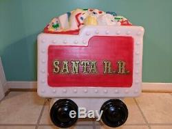 Santa Train Tender Car Lighted Blow Mold Custom Painted Red, GF, Tender Car Only